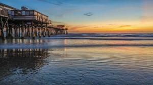 A beautiful sunrise at the Cocoa Beach Pier - (D7000)