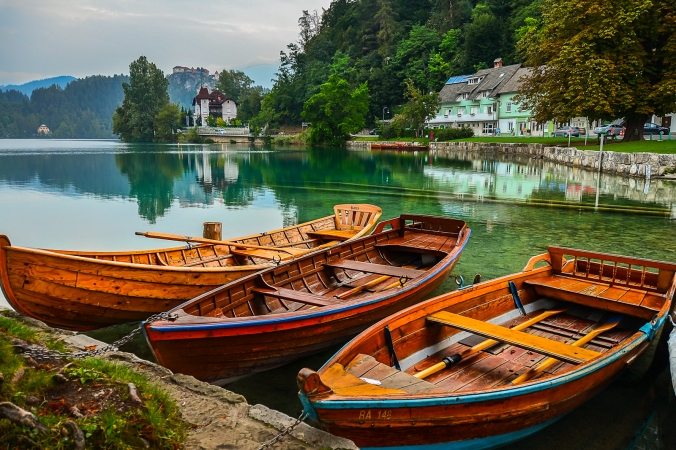 Fishing Boats - Lake Bled, Slovenia