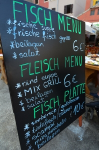 Great Food in Rovinj, Croatia