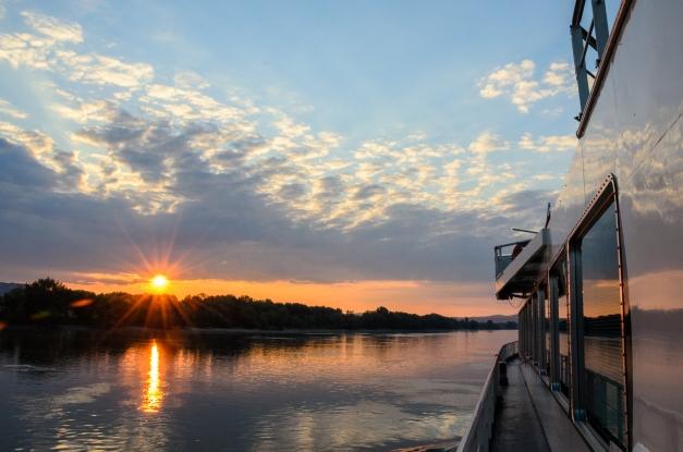 Crusing the Danube near Budapest