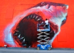 Artist Eating Shark - Eau Gallie, FL Art by Shark Toof