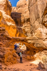 Walk Through Bridge - Fiery Furnace Hike - Arches National Park - Moab, UT