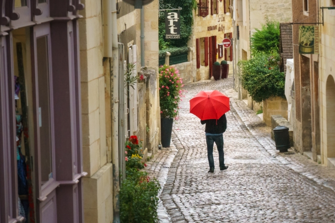 Rainy Day at the Festival - St. Emilion, France