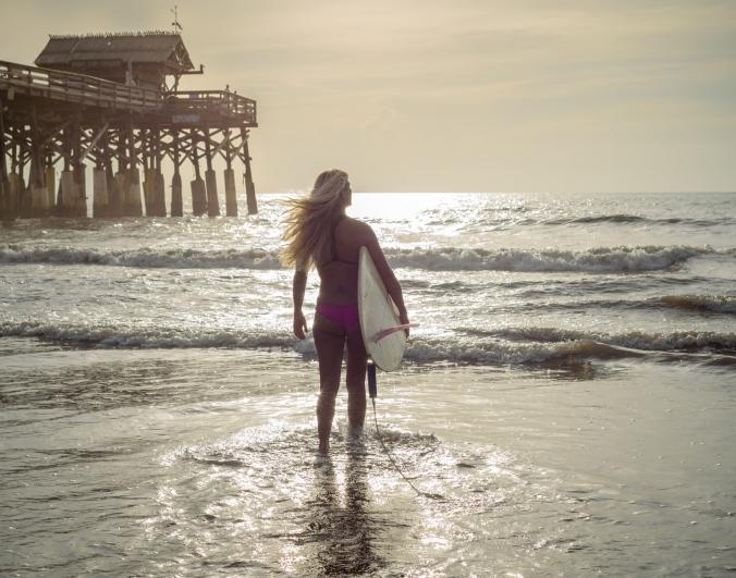 Longboard Girl- Cocoa Beach, FL
