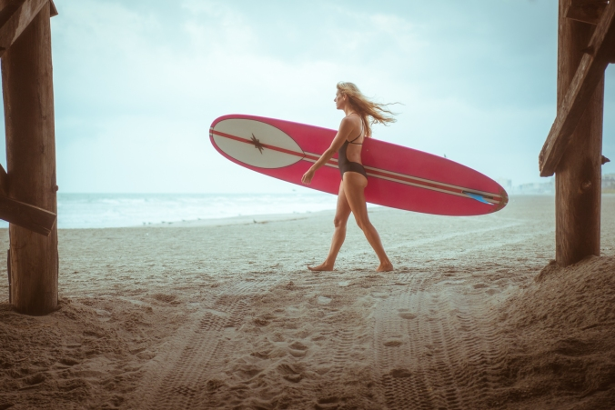 Longboard Girl - Cocoa Beach, FL