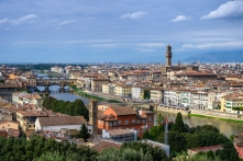 City Views from The Piazzale Michelangelo - Florence, Italy